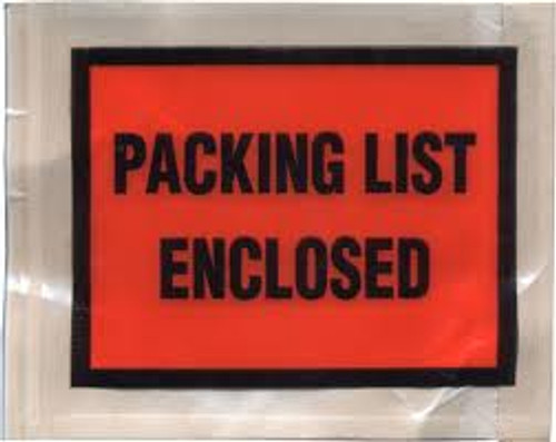 Packing List Envelopes, Packing List Enclosed, Full Coverage, 4 1/2 X 5 1/2, 1000/case