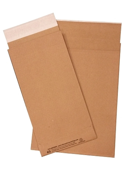 Paper Shipping Envelope, 6 x 10, Recycled, Natural Kraft, 500/Case