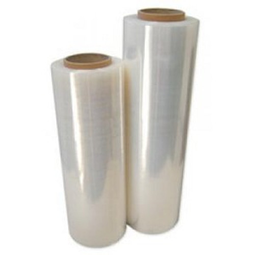 Hand Stretch Film, 18 in x 1500 ft, 80 Gauge, Clear, 4 Rolls/Case
