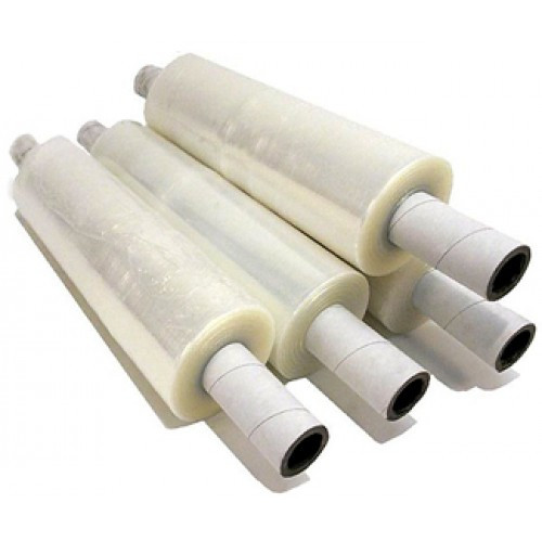 Stretch Film on Extended Cores, 80 Gauge, 20in x 1000ft, Clear, 4 Rolls per Pack