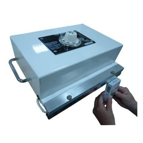 "12"" Hand Operated Direct Heat Sealer with Manual Overwrapper, 15mm for Cellophane"