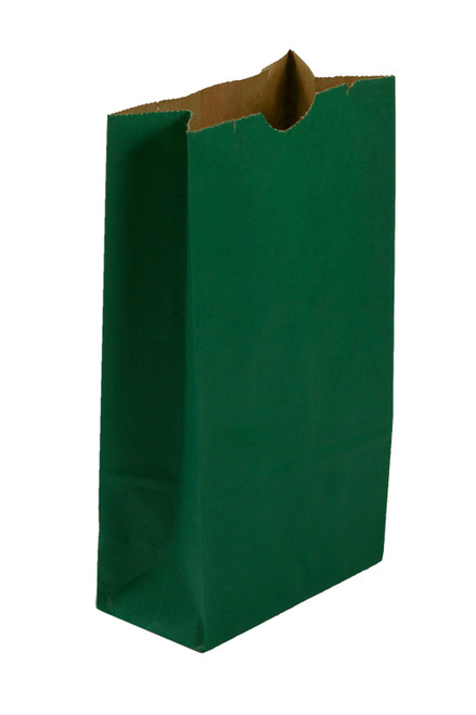 #10 Colored Lunch Bag, 6 9/16 x 4 1/16 x 13 3/16, Teal, 500/case