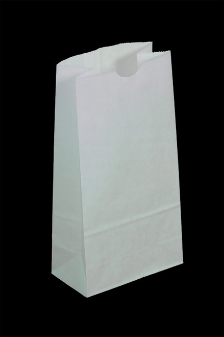#20 Colored Lunch Bag, 8 1/4 x 5 1/4 x 16 1/8, White, 500/case