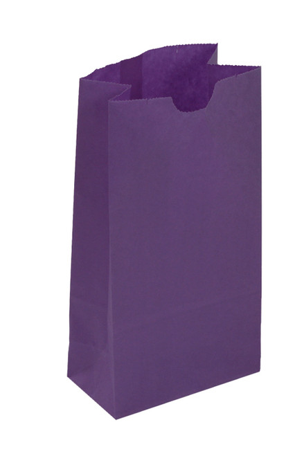 #6 Colored Lunch Bag, 6 x 3 5/8 x 11 1/16, Purple, 500/case
