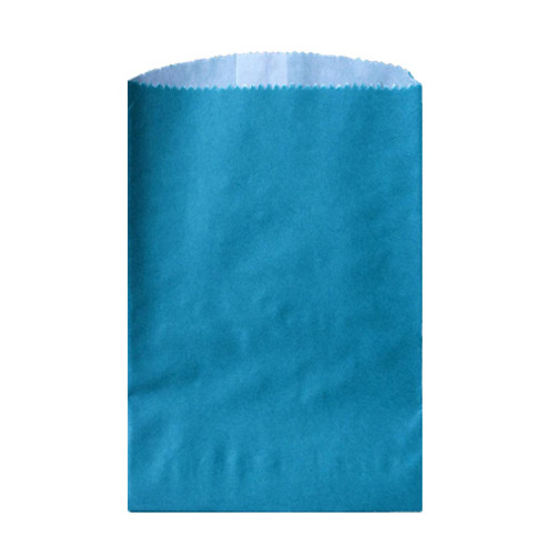 Wax Lined Glassine Gourmet Bag, 6.75 x 9.25, Teal, 1000/case