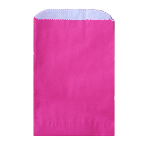 Wax Lined Glassine Gourmet Bag, 6.75 x 9.25, Hot Pink, 1000/case