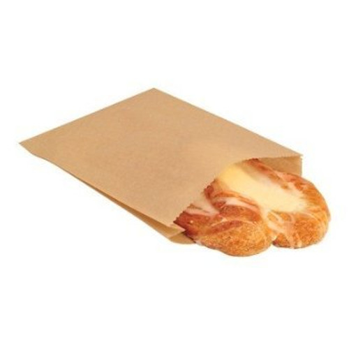 # 6 Grease Resistant Bag, 6 x 3 x 11, Kraft, 500/case