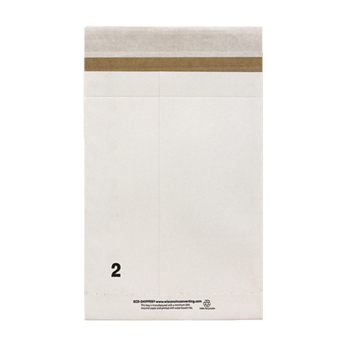 12-1/2 x 4 x 20 Eco-Shipper with Peel and Seal Closure, White, 200/Case