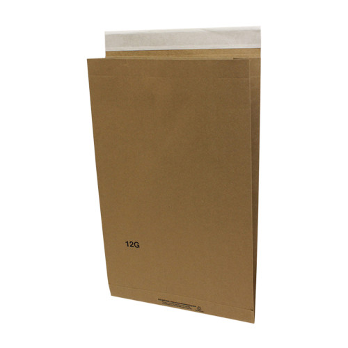 6 x 2-3/4 x 12 Recycled Natural Eco-Shipper with Peel and Seal Closure, Kraft,  500/Case