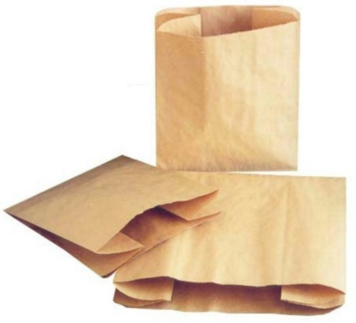 Paper Trash Can Liner, 12 X 8 X 14, 14 Quart, Kraft, 250/case