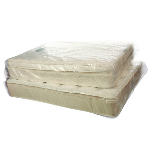 Pillow Top Mattress Bags, Twin, 40 x 15 x 95, Clear, 50/Roll