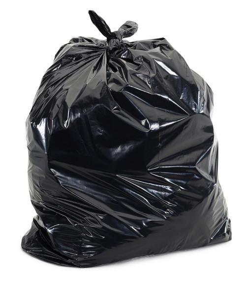 Trash Can Liner, 33 Gallon, 33 x 40, 16 Micron, Black, 250/Case