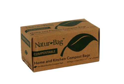 Compostable Trash Bag, 3 Gallon, Retail Packed, 17 x 17, .7 mil, Light Green, 600/case