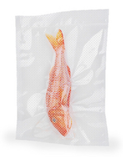 Channel Vauum Pouch with Zipper and Hang Hole, 8 x 12, Clear, 100/Case