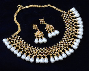 American Diamond jewelry with pearl