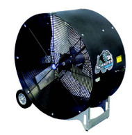 "VKM36-B-O"" Black drum fan with OSHA guards VERSA-KOOL mobile drum fans have a ""bulldog-tough"" design for maximum impact and rust resistance."