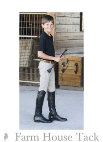 Ovation Boys Euroweave 4-Pocket Knee Patch Breeches