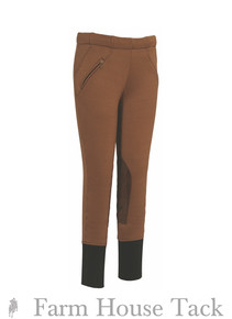 Tuffrider Child's Unifleece Pull On Knee Patch Breeches