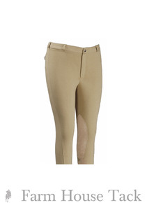 Tuffrider Men's Cotton Knee Patch Breeches