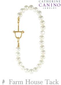 Catherine Canino Classic Equestrian Pearl Necklace