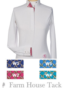 "Essex Classics Talent Yarn ""Catena"" Ladies Wrap Collar Show Shirt"