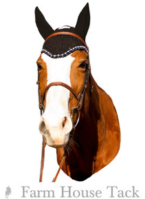 Equine Couture Fly Bonnet with Crystal