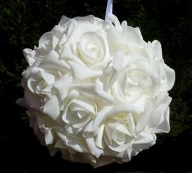 """Everlasting Rose Ball - White - 8"""""""