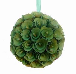 "Wood Curl Ball - Green - 7.5"""