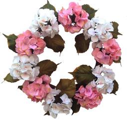 "Glorious Hydrangea - White / Pink - 20"""