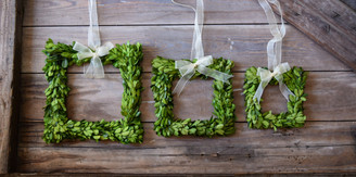 Preserved Boxwood Wreath - Square (3 pc set)