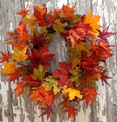 Fall Maple Leaf Wreath - 20""