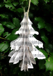 DECOUPAGE - MD TREE - MUSIC - 10.25""
