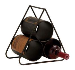 "Metal Wine Holder - 11"" wide x 10"" tall"