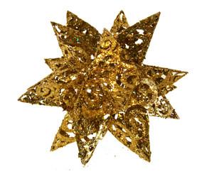 "Metal Glitter Snowflake - Gold - 12"""