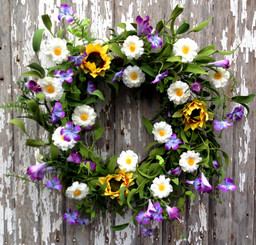 FIELD OF FLOWERS WREATH - 22""
