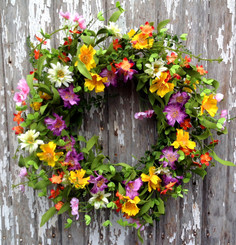PRAIRIE FLOWER WREATH - 22""