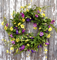 GOLDEN WILDFLOWER WREATH - 22""