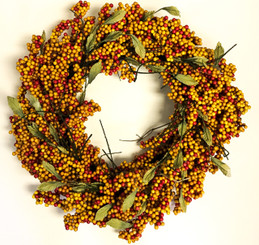 Soft Berry Wreath - Terracotta - 24""