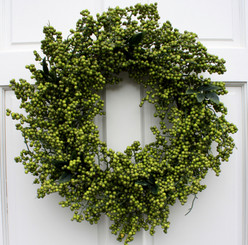 SOFT BERRY WREATH - SPRING GREEN - 24""