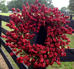 SOFT BERRY WREATH - CRIMSON RED - 24""