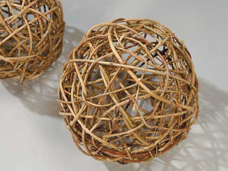 CURLY WILLOW BALL - NATURAL - 4""