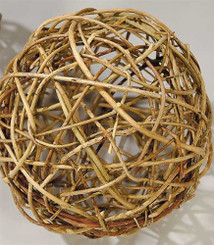 CURLY WILLOW BALL - NATURAL - 6""