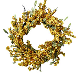 SOFT BERRY WREATH - GOLDENROD - 24""