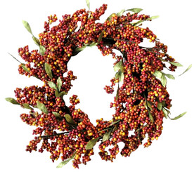 SOFT BERRY WREATH - BITTERSWEET - 24""