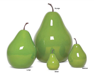 """Fruit - Pear - Small - 6.1"""" x 6.1"""" x 9.6"""""""