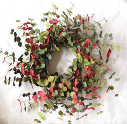 Faux Eucalyptus Wreath - Shades of Summer -  20""