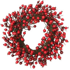 Red Berry Wreath - 24""