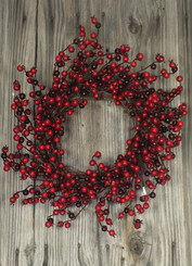 "Red Multiberry 24"" Wreath"