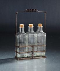 Glass Decor - 3 Jar with Cork