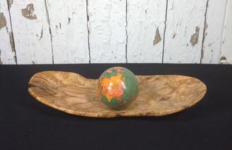 Olivewood Flat Bowl MED (ASST SIZES)